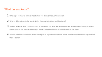 Native American Pre-Columbus History