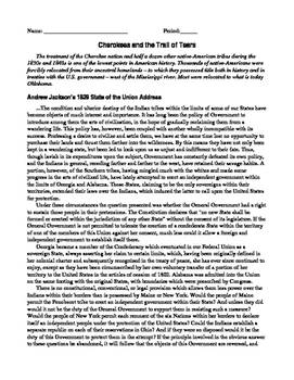 Native American Primary Source Readings