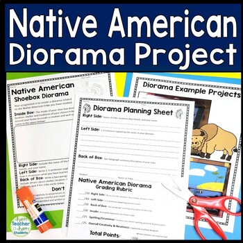 Native American Project: Decorate a Shoebox Diorama: Perfe