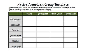 Native american project with directions rubric and group grid free native american project with directions rubric and group grid pronofoot35fo Gallery