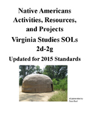 Native American Projects & Activities: Virginia Studies SOLs 2d-2g