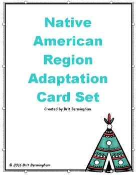 Native American Region Card Activity