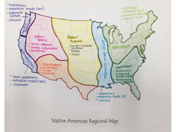 Native American Regional Map