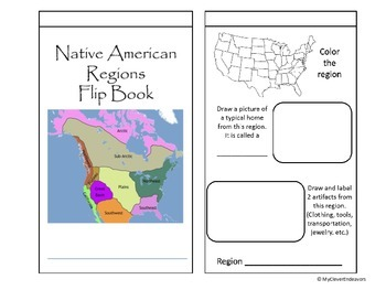 Native American Regions Flip Book