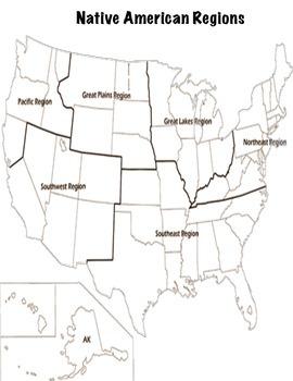 Native American Regions Map