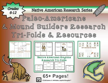 Paleo-Americans and Mound Builders Research Tri-Folds and