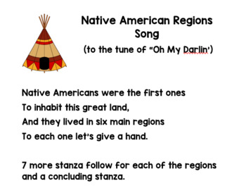 Native American Regions SONG (3rd Grade Georgia Standards)