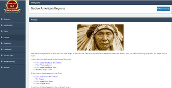 Native American Regions WebQuest & Foldable