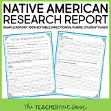 Native American Report for 3rd - 6th Grade   Native Americ