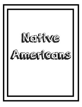 Native American Research Chart