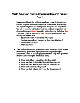 Native-American Research Project