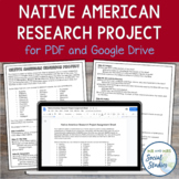 Native American Research Project (Compatible with Google Drive)