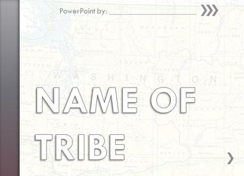 Native American Research Template