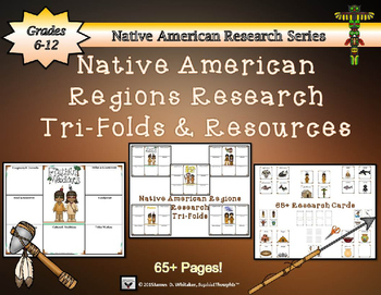 Native American Research Tri-Folds Mega Bundle