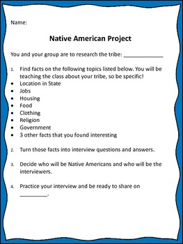 Native American Research and Interview Project