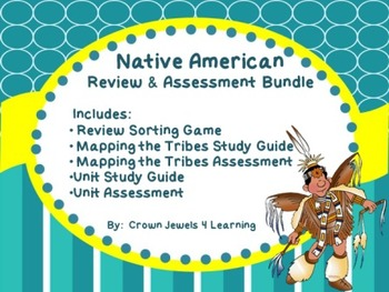 Native American Review Game, Study Guide, and Assessments Bundle