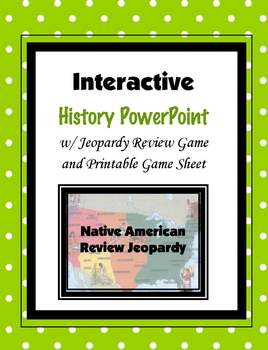 Native American Review Jeopardy (PowerPoint)