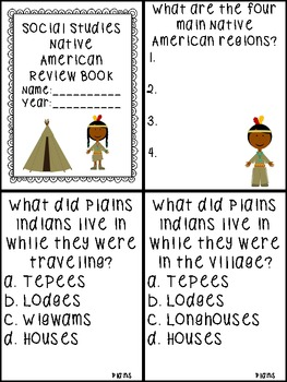 Native American Review Mini Book