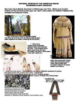 Native American Scavenger Hunt