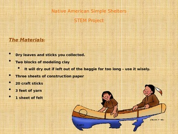 Native American Homes & Shelters  PowerPoint and STEM Project
