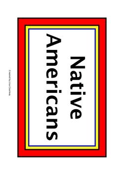 Native American - Social Studies Word Wall Cards  - Georgia  GPS