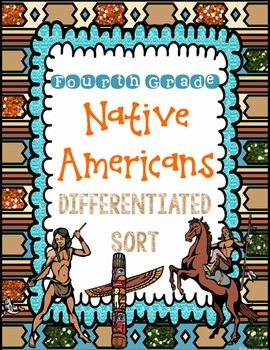 Native American Sort {Differentiated Interactive Notebook