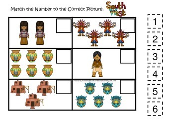 preschool native american theme native american south west indians theme match the number