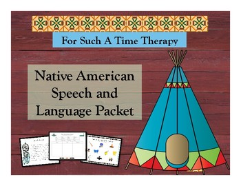 Native American Speech and Language Packet