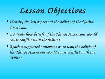 Native American Spiritual Belief Lesson