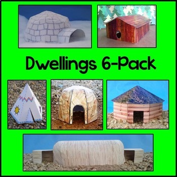 Native American Dwellings 6-Pack Craft
