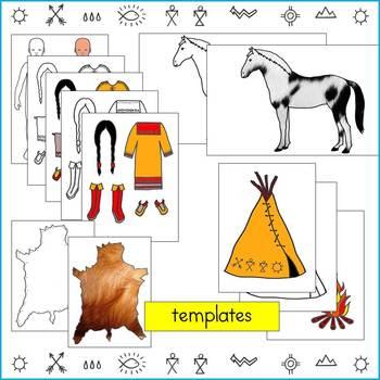 Native American Studies Craft: Plains Indian Paper Dolls