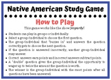 Native American Study Game