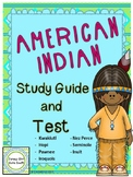 American Indian Study Guide & Test Hopi Inuit Seminole Kwakiutl Native American