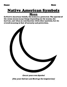 Native American Symbol The Moon Worksheet
