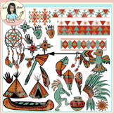 Native American Symbols, Patterns, Objects, Artifacts - Earth Tones