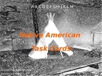 Native American Task Cards