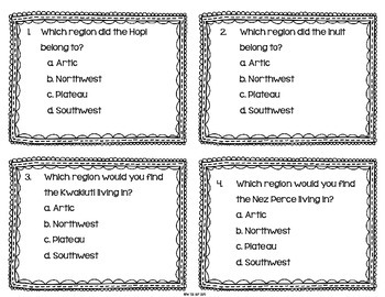 Native American Task Cards {Scoot}