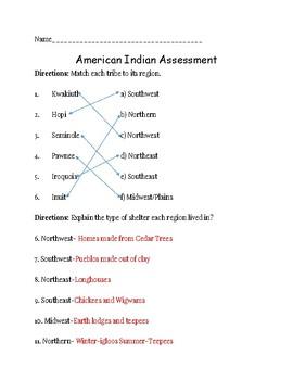 Native American Test Key