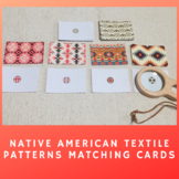 Native American Textile Matching Cards