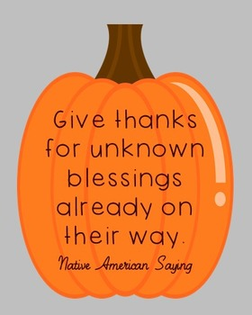 Native American Thanksgiving Quote Poster