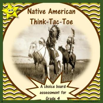 Native American Choice Board Assessment