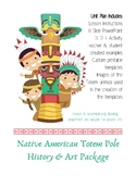 Native American Totem Pole Art Package