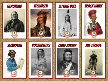 Famous Native American Trading Card Activities