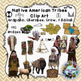 Native American Tribe Clip Art: Arapaho, Cherokee, Crow, Salish