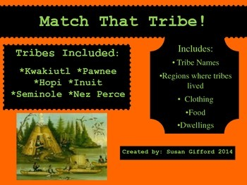 Native American Tribe Matching Game
