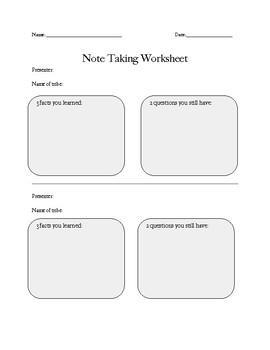 Native American Tribe Presentations Note Catcher