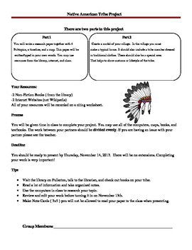 Native American Tribe Project