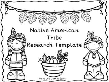 Native American Tribe Research Paper Template FREEBIE