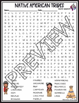 Native American Heritiage Month | Tribes Word Search Activity