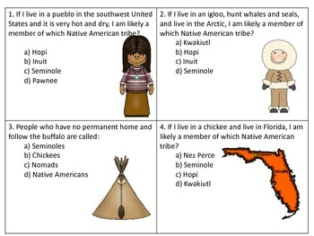 Native American Tribes & Culture SCOOT-  great for GA Milestone review!